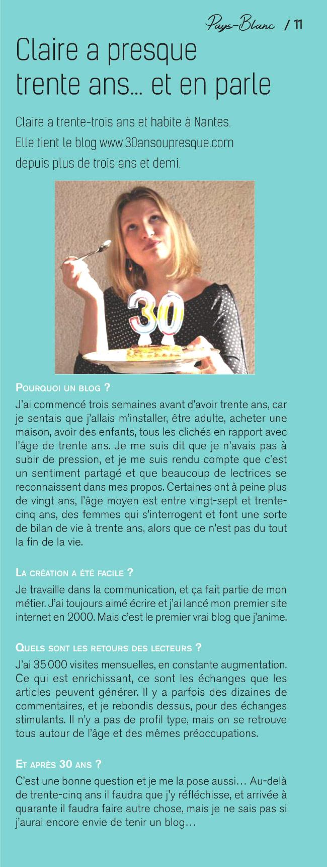 Revue de presse du blog nantais 30ansoupresque.com