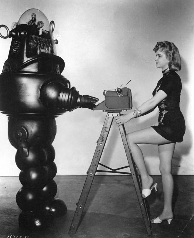 Robot blogueur futuriste