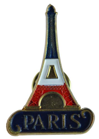 Un pin's très classique représentant la Tour Eiffel