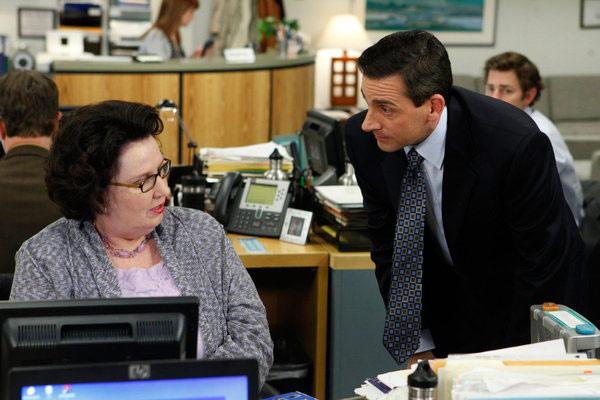 Michael et Phyllis dans The Office