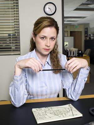 Jenna Fisher aka Pam Beesly dans The Office