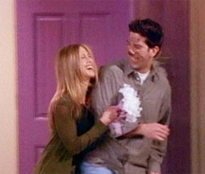 Ross et Rachel, mariés dans Friends