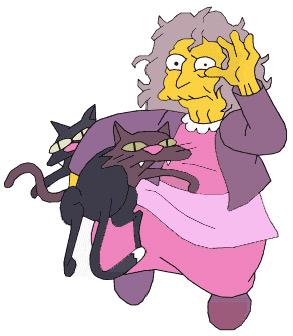 La Crazy cat lady des Simpsons