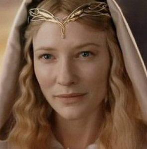 Galadriel dans Le Seigneur des Anneaux, jouée par Cate Blanchett