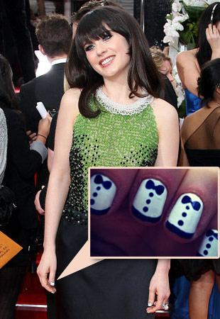 Zoe Deschanel et son nail art tout mignon