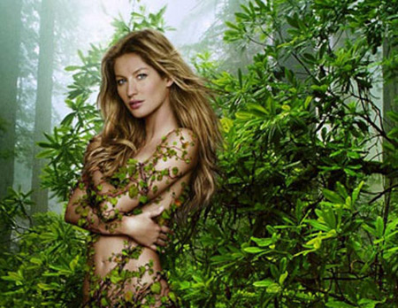 Gisele Bundchen dans la jungle
