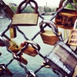 Les cadenas d'amour sur le Pont des Arts à Paris