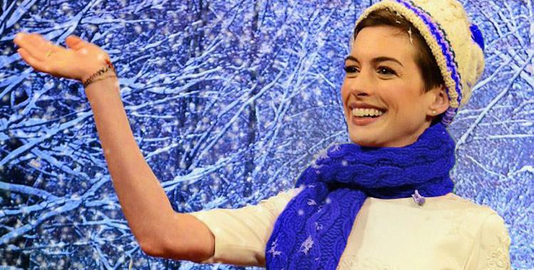 Anne Hattaway aime la neige