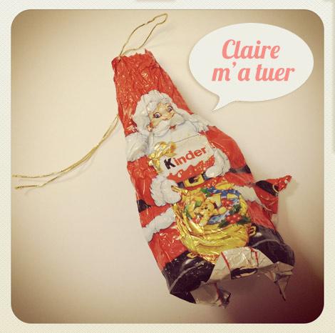 Père Noël kinder en chocolat