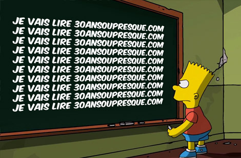 Bart a un vocabulaire de jeune