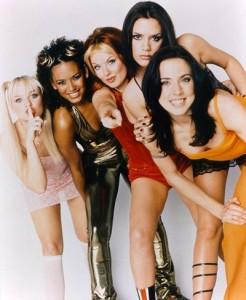 Les spice girls dans les années 1990