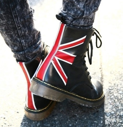 Doc Martin's union jack, double symbole de l'Angleterre