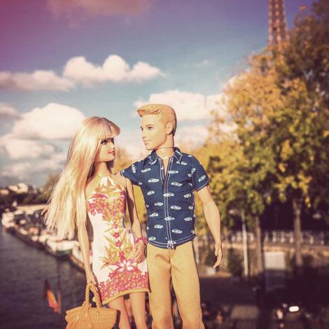 Ken et Barbie en amoureux à Paris