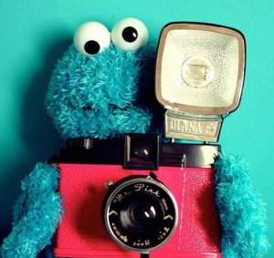 Cookie monster prend une photo