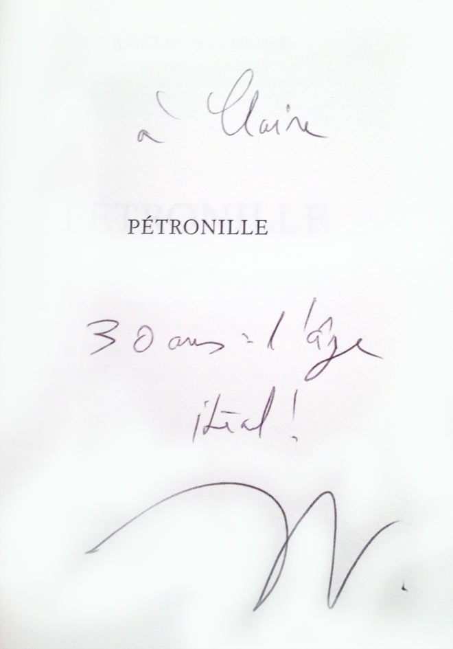 30 ans : le plus bel âge selon Amélie Nothomb