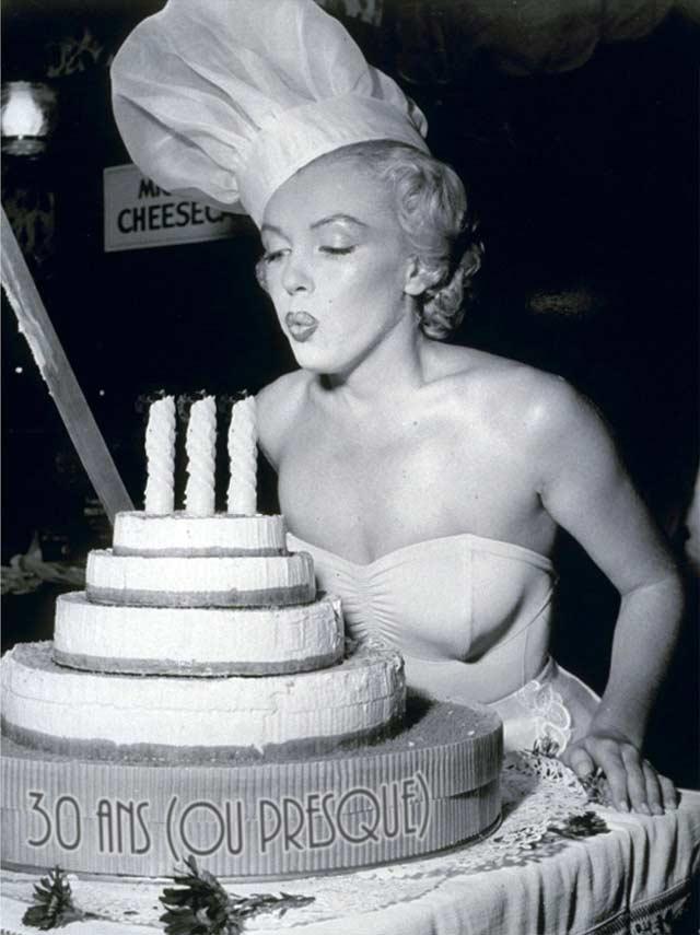 Marilyn souffle les bougies de mon blog