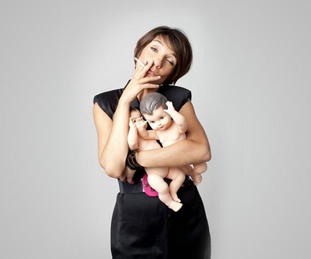 Florence Foresti avec un enfant n'a pas changé