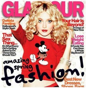 Pull Mickey en Une de Glamour