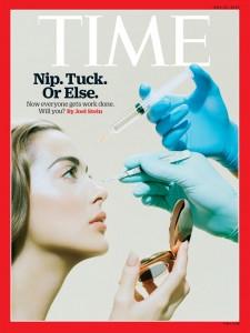 Couverture du Time magazine sur la chirurgie esthétique
