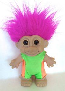 troll jouet des années 80