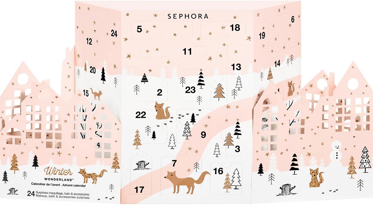 Calendrier de l'avent beauté 2017 pour adulte : Sephora winter wonderland