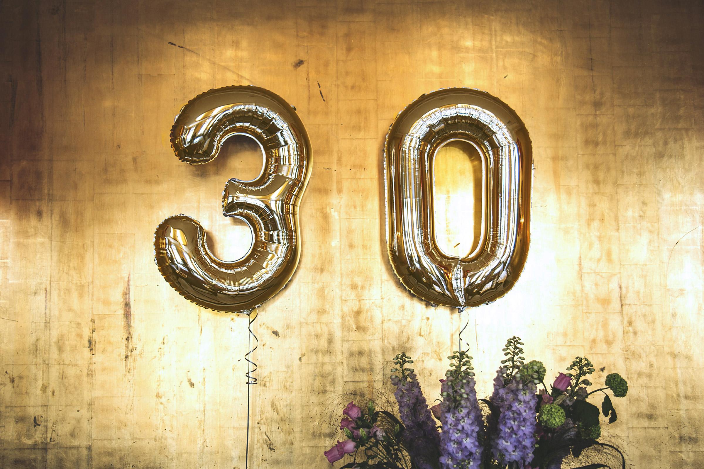 Décorer sa fête d'anniversaire de 30 ans