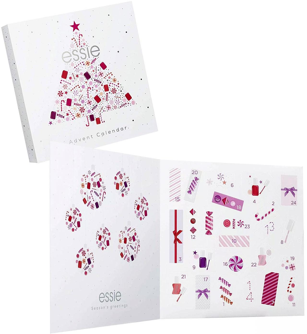 Calendrier de l'avent pour adulte Essie 2018, un calendrier plein de cadeaux beauté