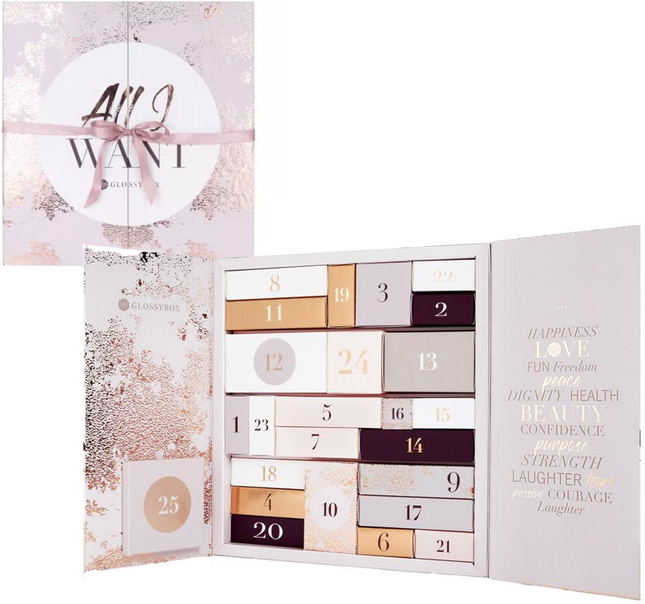 Calendrier de l'avent pour adulte 2018 Glossybox, un calendrier plein de cadeaux beauté