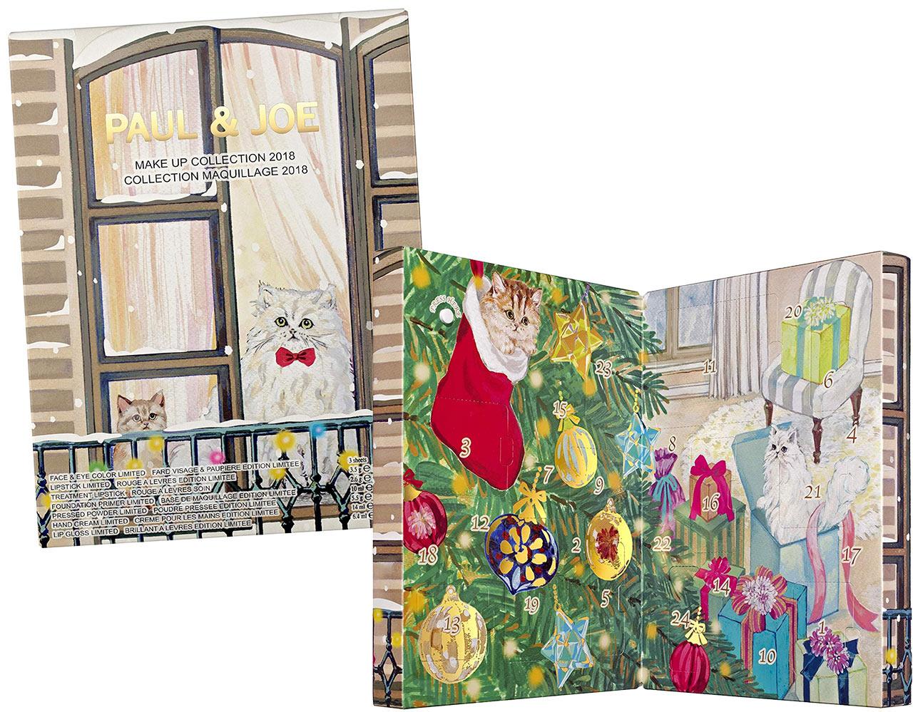 Calendrier de l'avent pour adulte 2018 Paul & Joe, un calendrier plein de cadeaux beauté