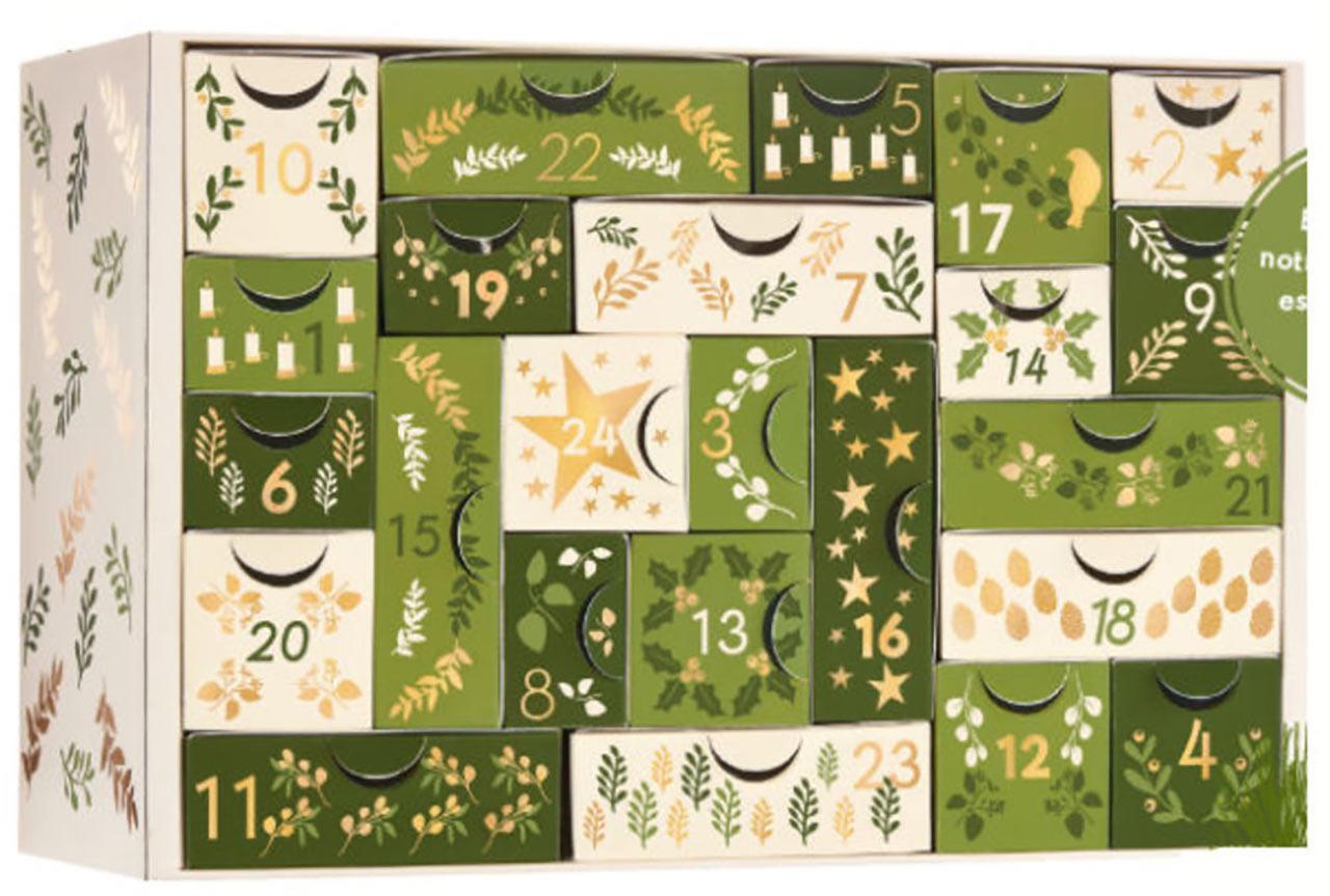 Calendrier de l'avent Yves Rocher 2018 : un calendrier de l'avent beauté pour adultes rempli de petits cadeaux pour femme