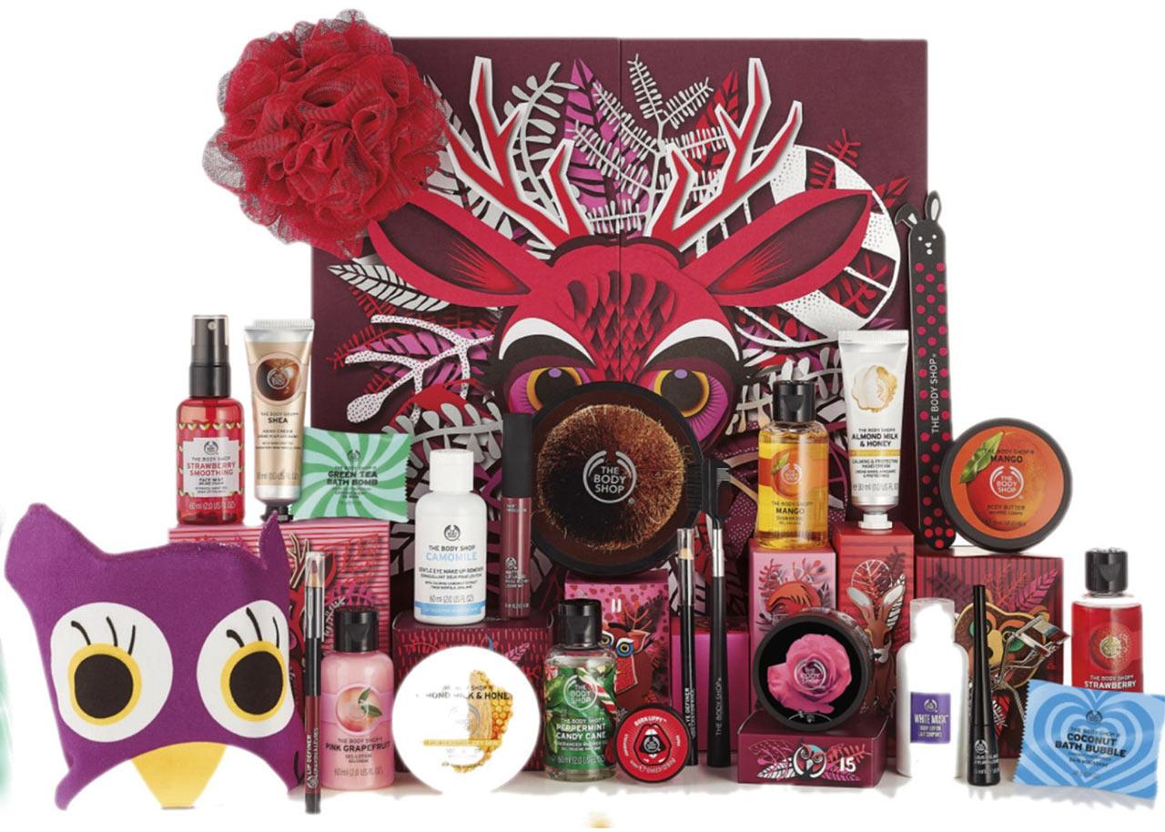 Calendrier de l'avent The Body shop classique 2018 : un calendrier de l'avent beauté pour adultes rempli de petits cadeaux pour femme
