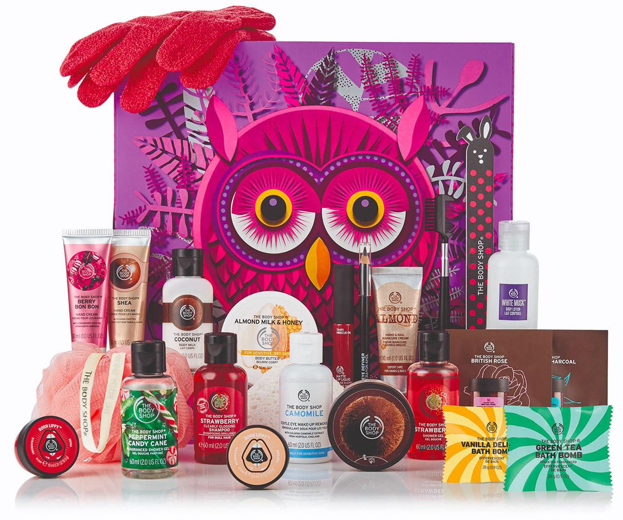 Calendrier de l'avent The Body shop découverte 2018 : un calendrier de l'avent beauté pour adultes rempli de petits cadeaux pour femme