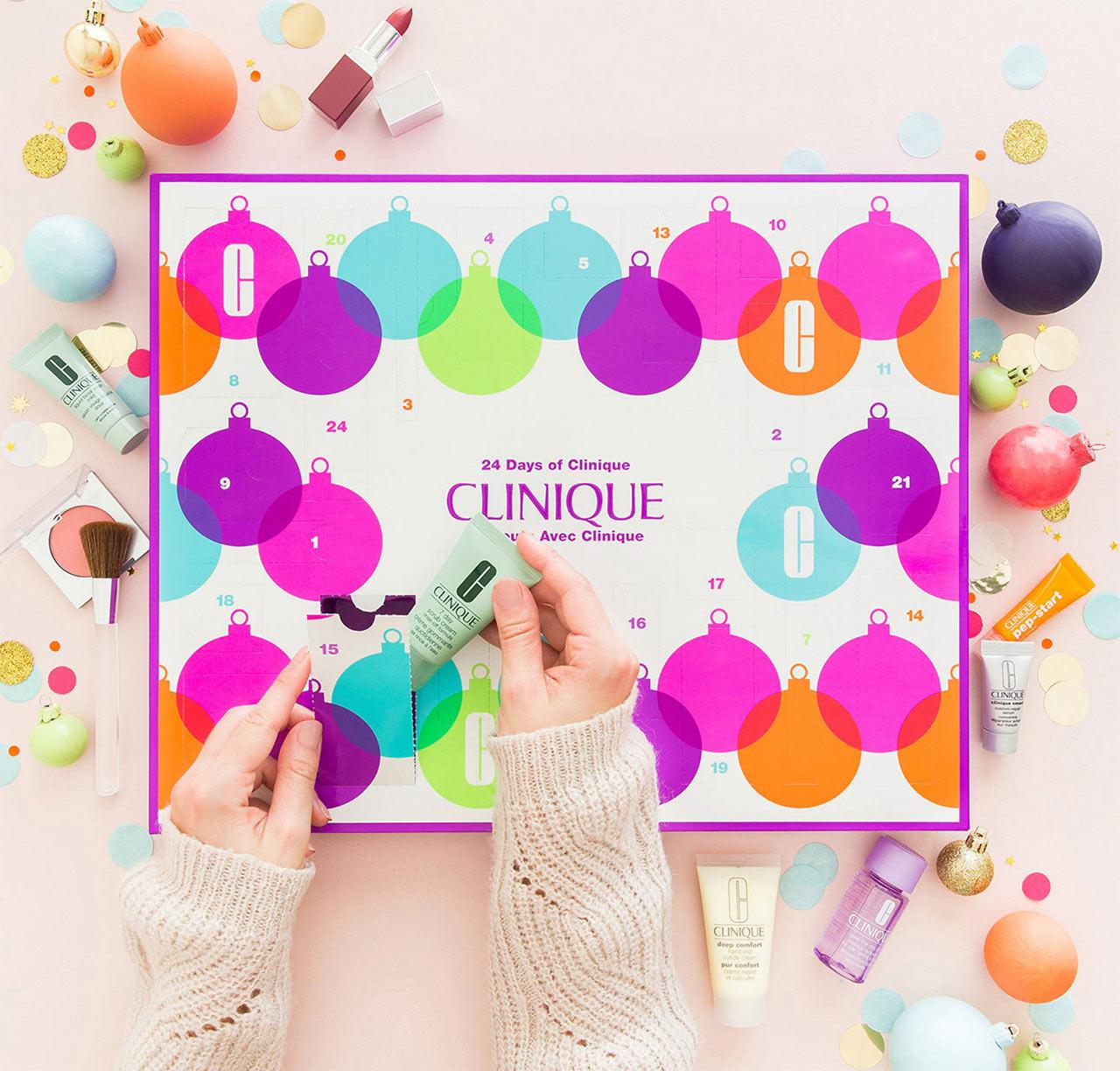Calendrier de l'avent pour adulte 2018 Clinique, un calendrier plein de cadeaux beauté