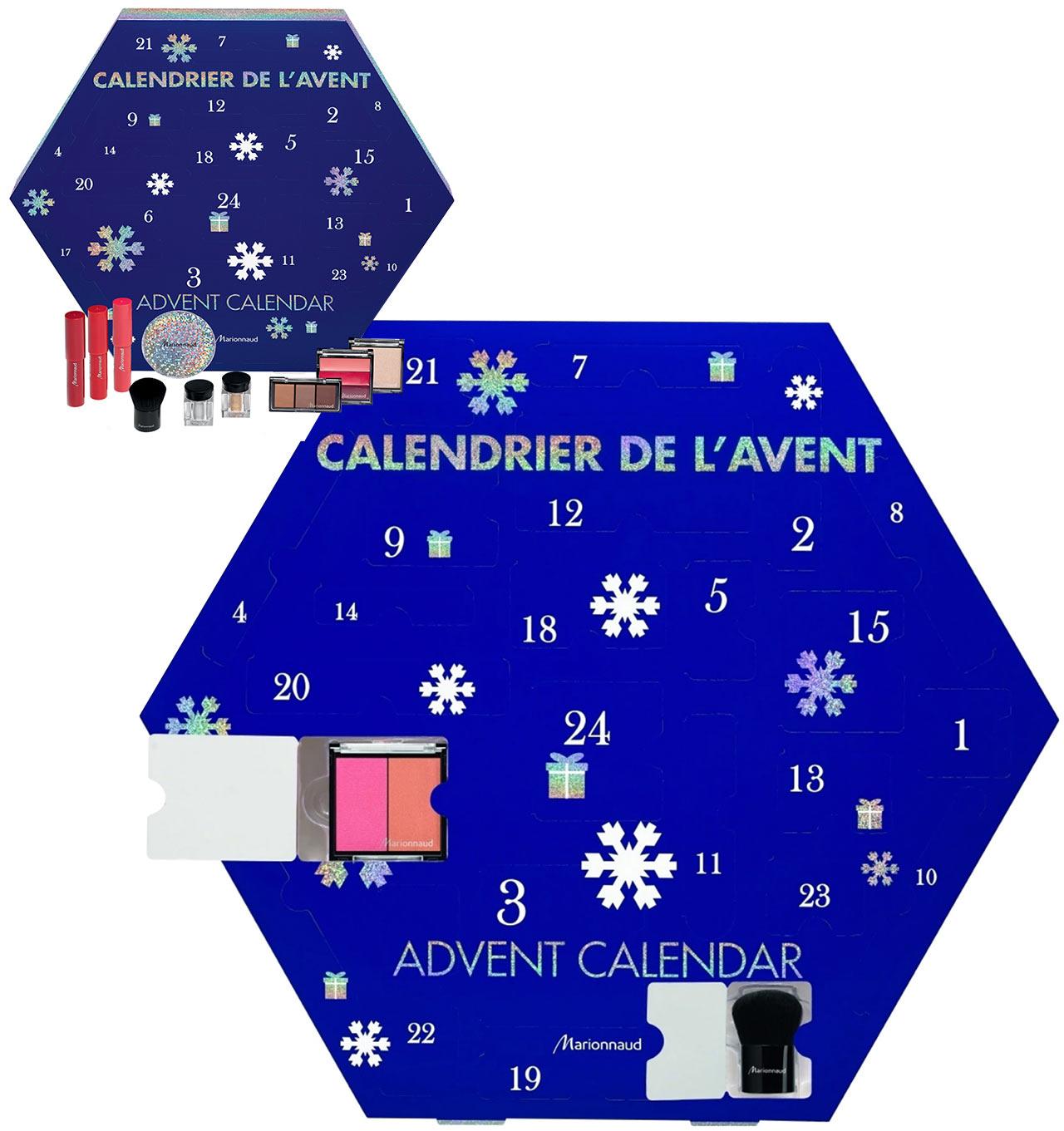 Calendrier de l'avent pour adulte Marionnaud 2018, un calendrier plein de cadeaux beauté