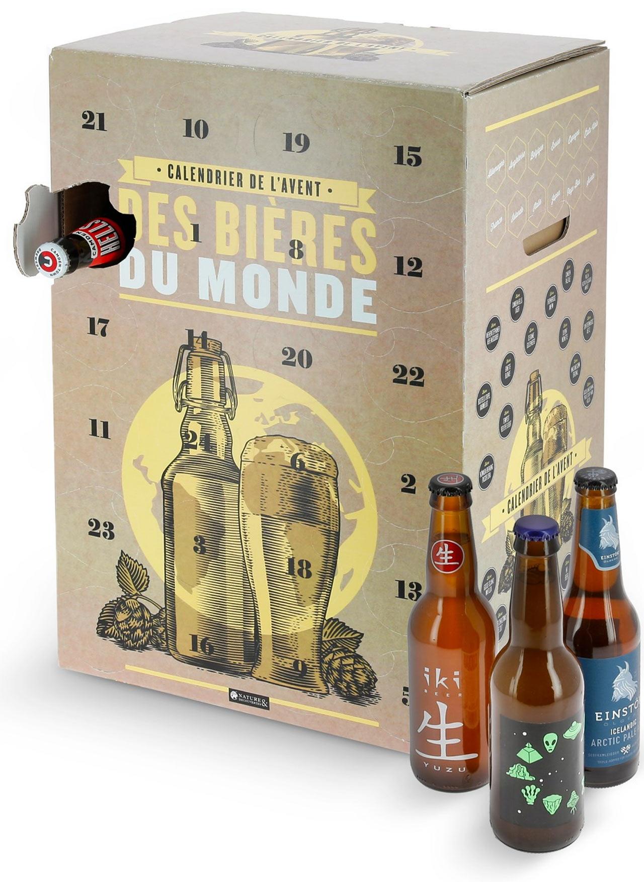 Calendrier de l'avent Nature et découvertes 2018 : un calendrier de l'avent pour adultes rempli de bières
