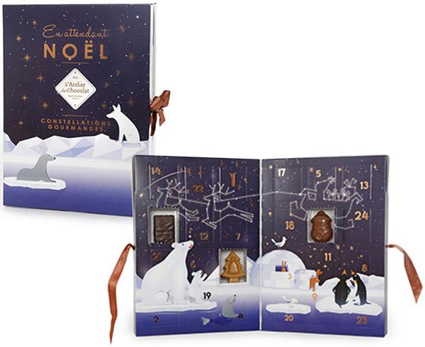 Calendrier de l'avent gourmand l'Atelier du chocolat