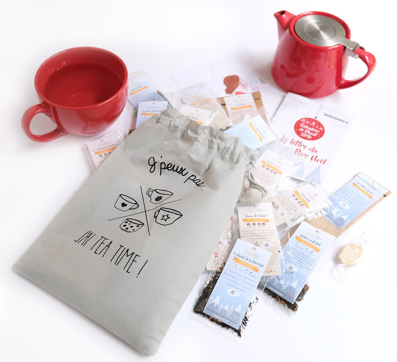 Calendrier de l'avent Chakaiclub 2018 : un calendrier de l'avent pour adultes rempli de thé et infusions