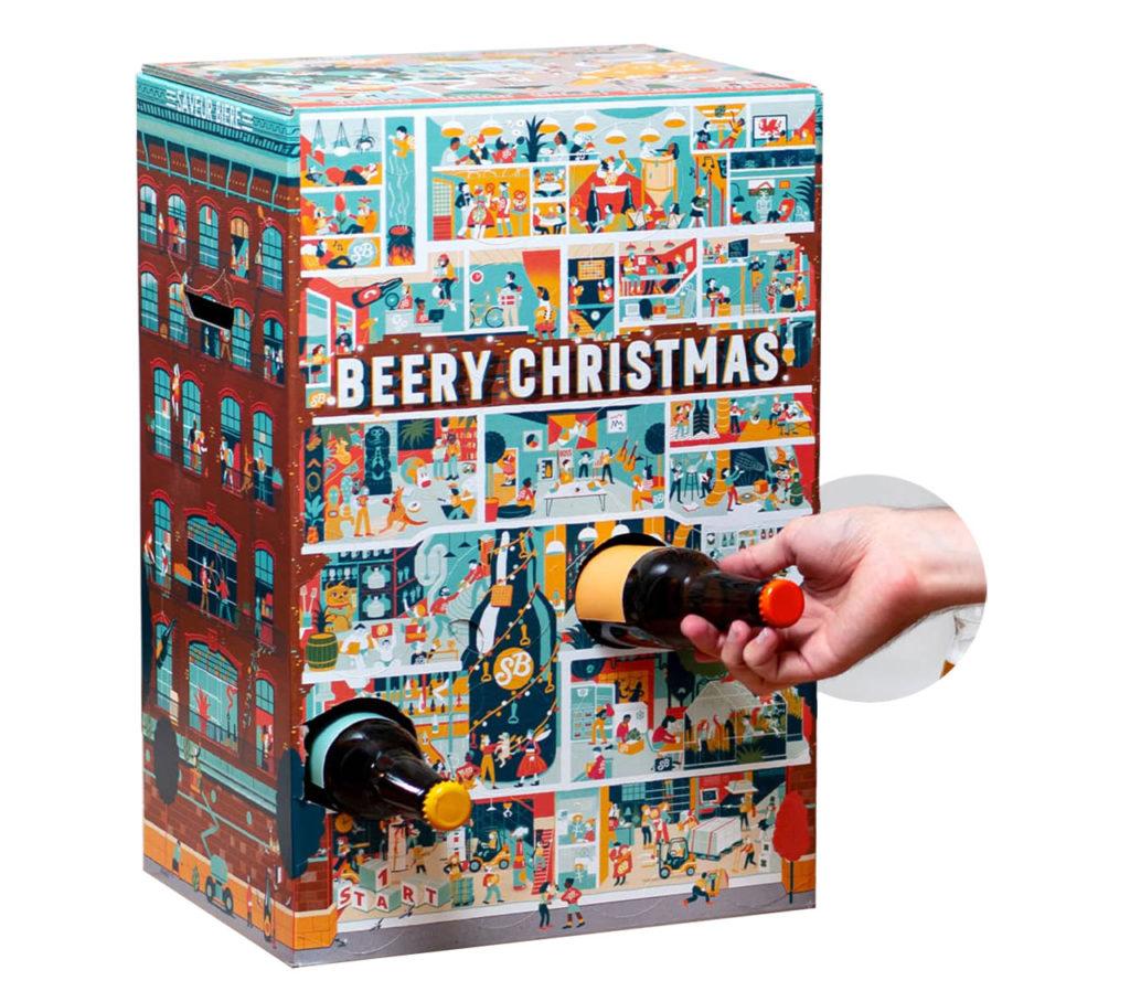 le calendrier de l'avent 2019 de Saveur bière, appelé Beery Christmas