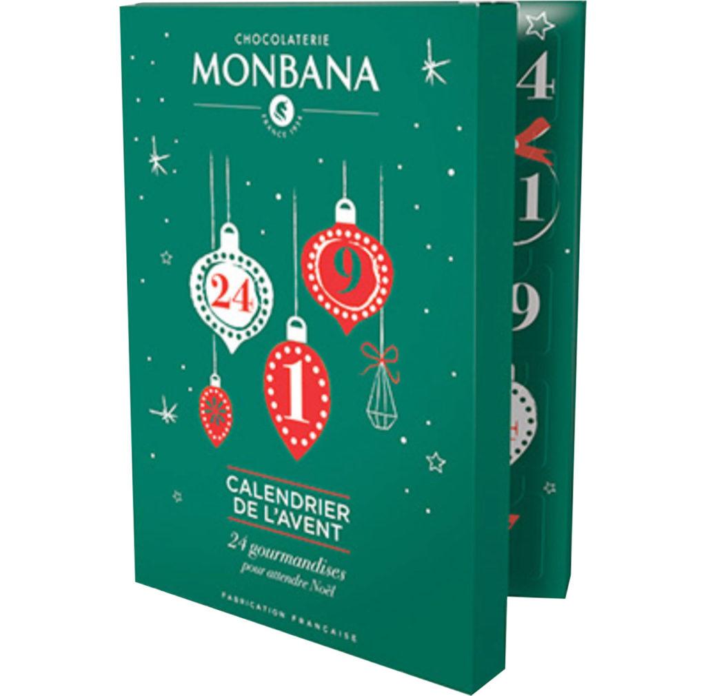 Le calendrier de l'avent 2019 de Monbana