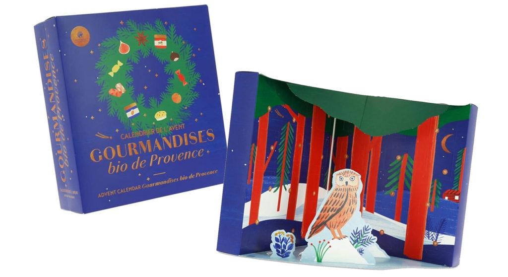 le calendrier de l'avent 2019 Gourmandises bio de Provence de Nature et découvertes