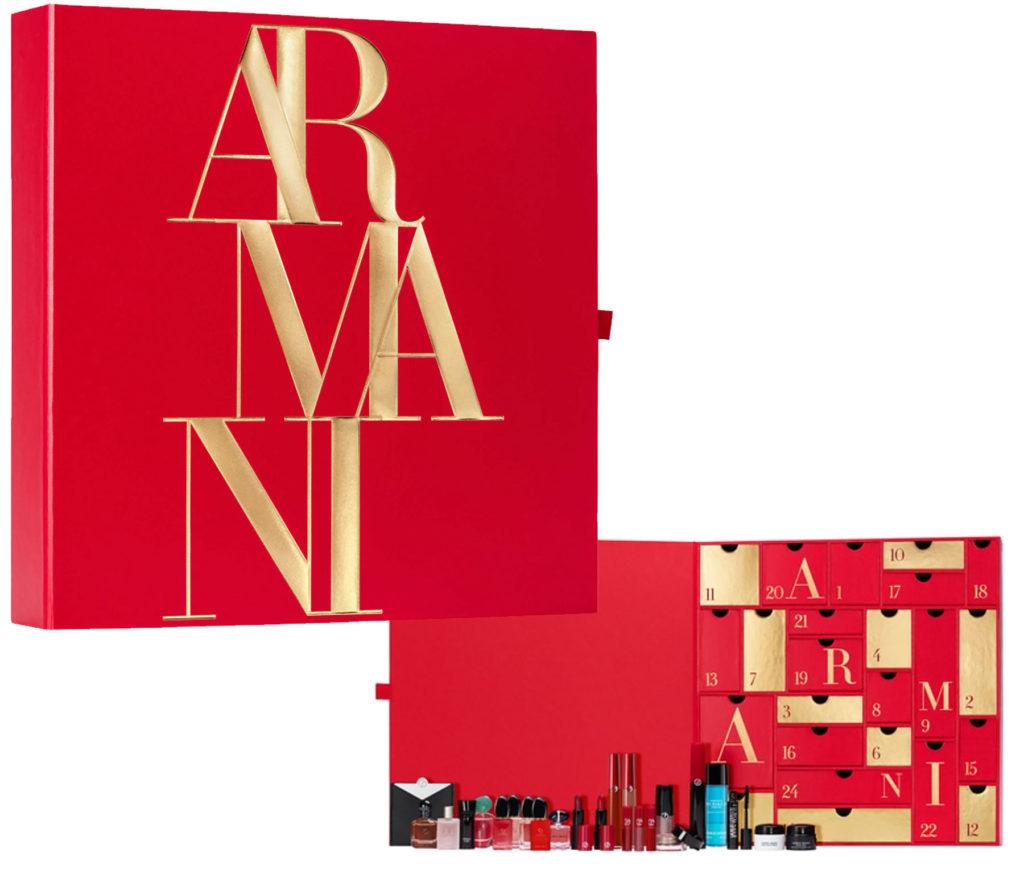 Calendrier de l'avent beauté Armani version 2020 pour femme adulte qui aime la beauté