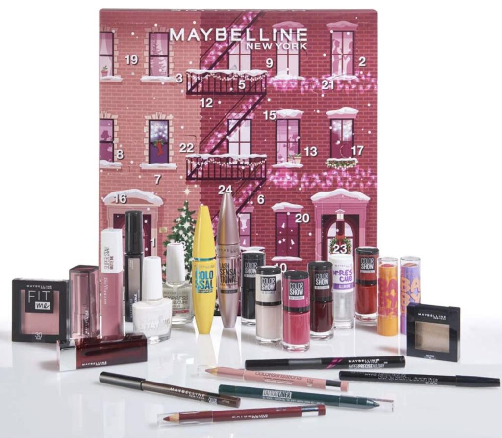 Calendrier de l'avent beauté de Maybelline version 2020 pour femme adulte qui aime la beauté