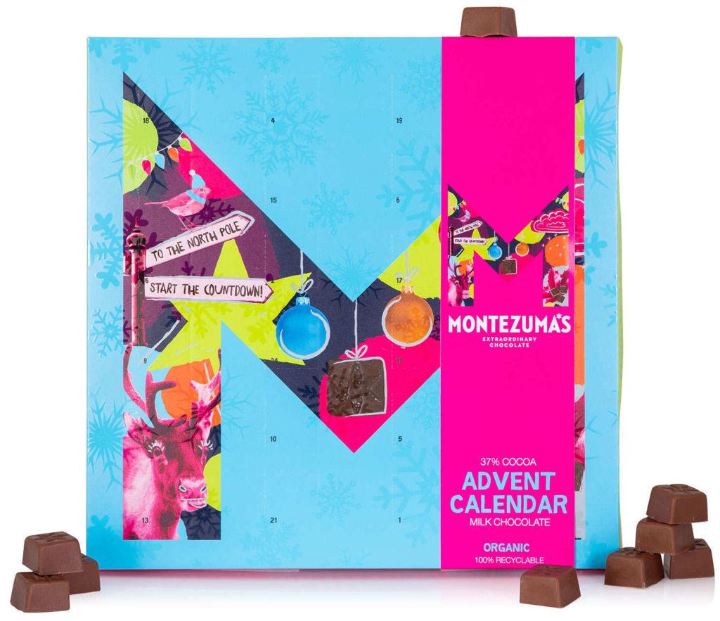 Calendrier de l'avent chocolat lait bio 2020 pour femme adulte gourmande qui aime les chocolats