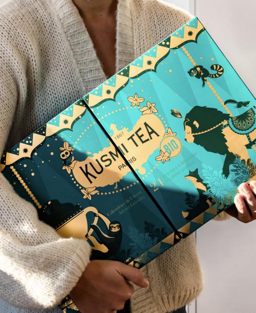 Calendrier de l'avent thé Kusmi tea 2020 pour femme adulte qui aime boire des infusions