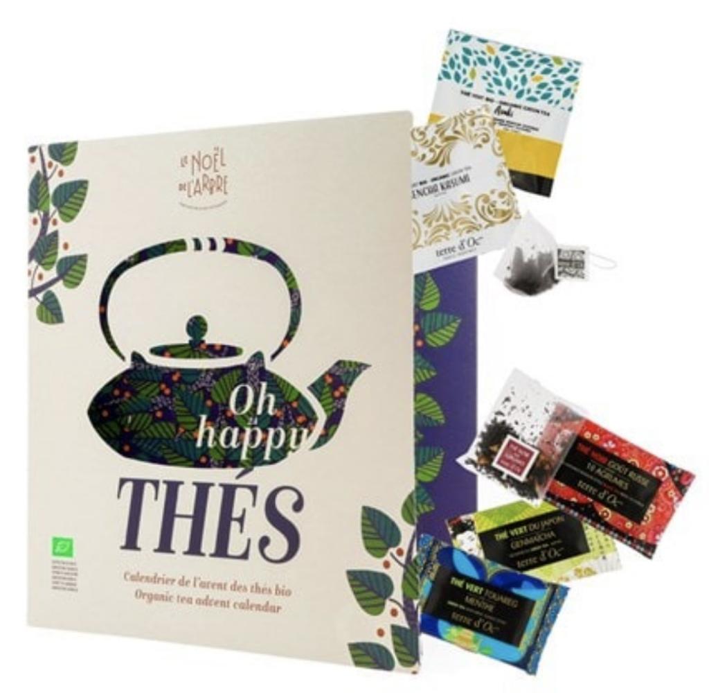 Le calendrier de l'avent 2020 Oh happy thé de Nature et découvertes