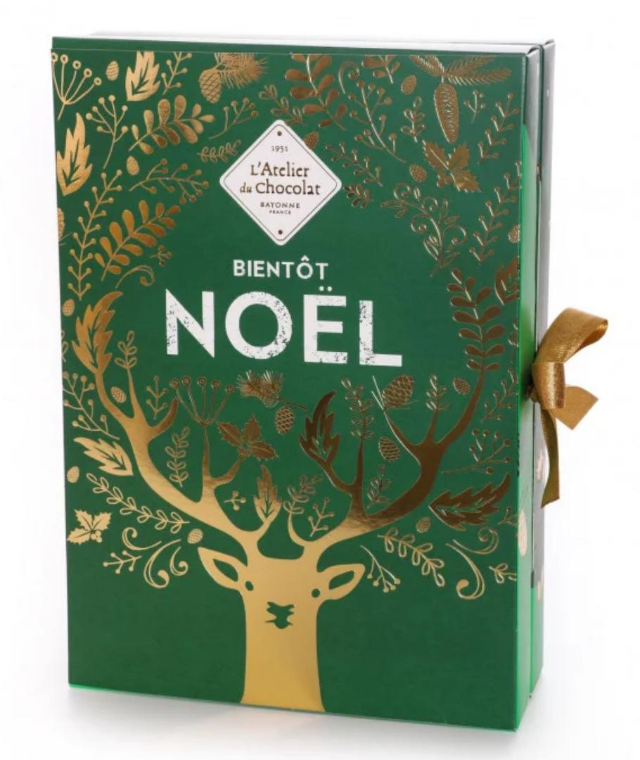 Calendrier de l'avent L'atelier du chocolat 2020 pour femme adulte gourmande qui aime les chocolats