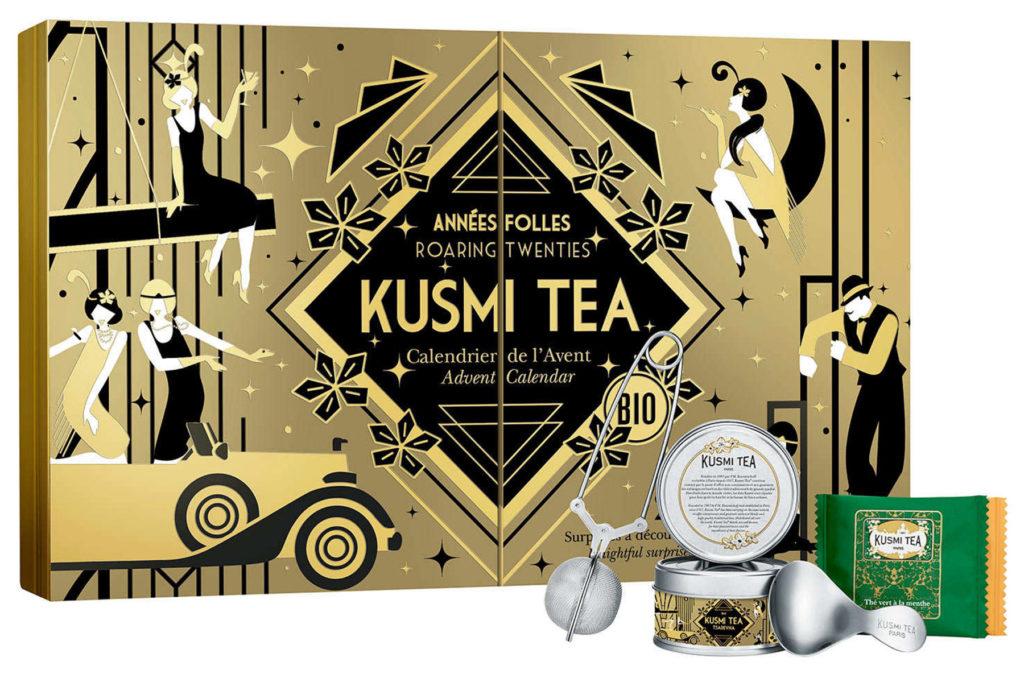 Calendrier de l'avent thé Kusmi tea 2021 pour femme adulte qui aime boire des infusions