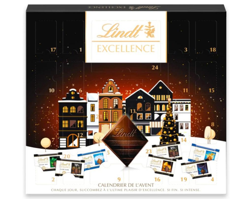 Calendrier de l'avent 2021 chocolats de dégustation par Lindt pour hommes et femmes